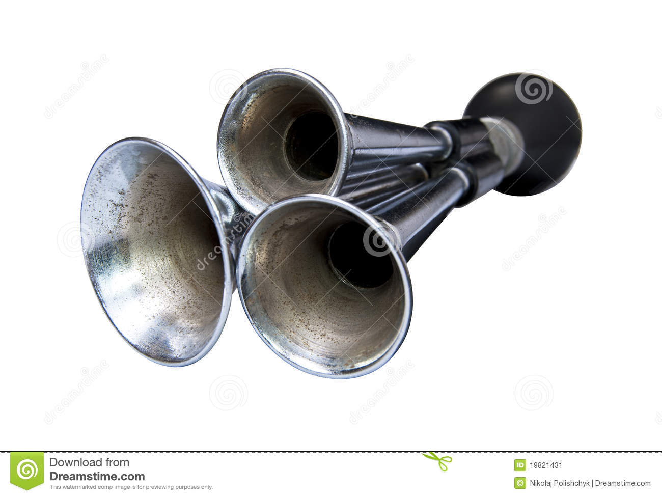 Old car horn stock image
