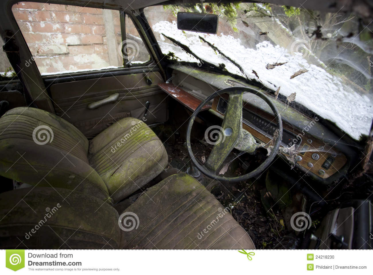 old car interior stock photo image of dirty derelict 24218230. Black Bedroom Furniture Sets. Home Design Ideas