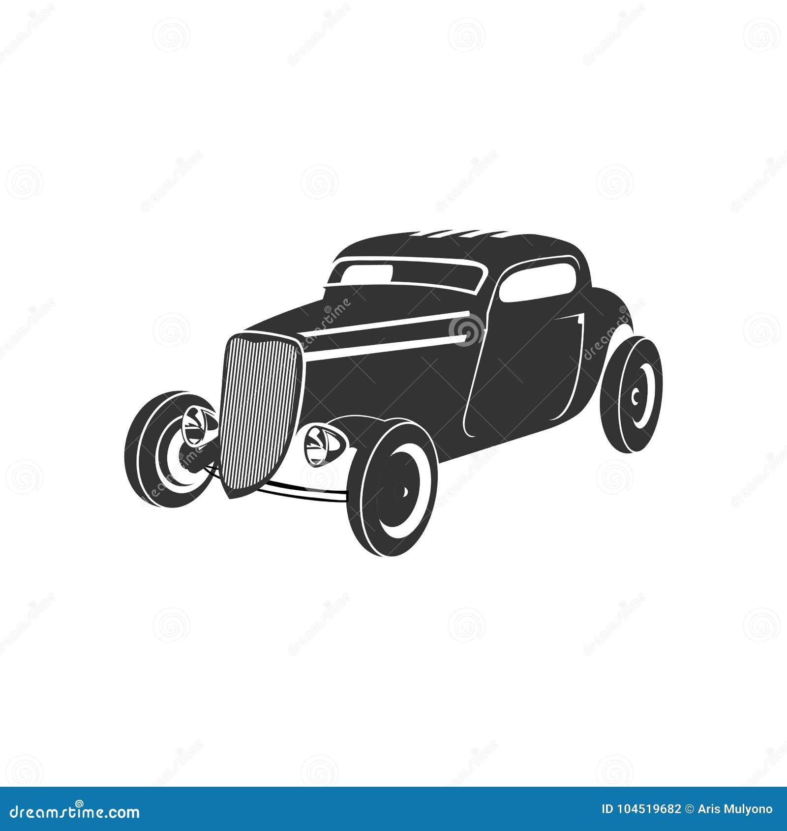 Old Car Logo Stock Illustration. Illustration Of Antique