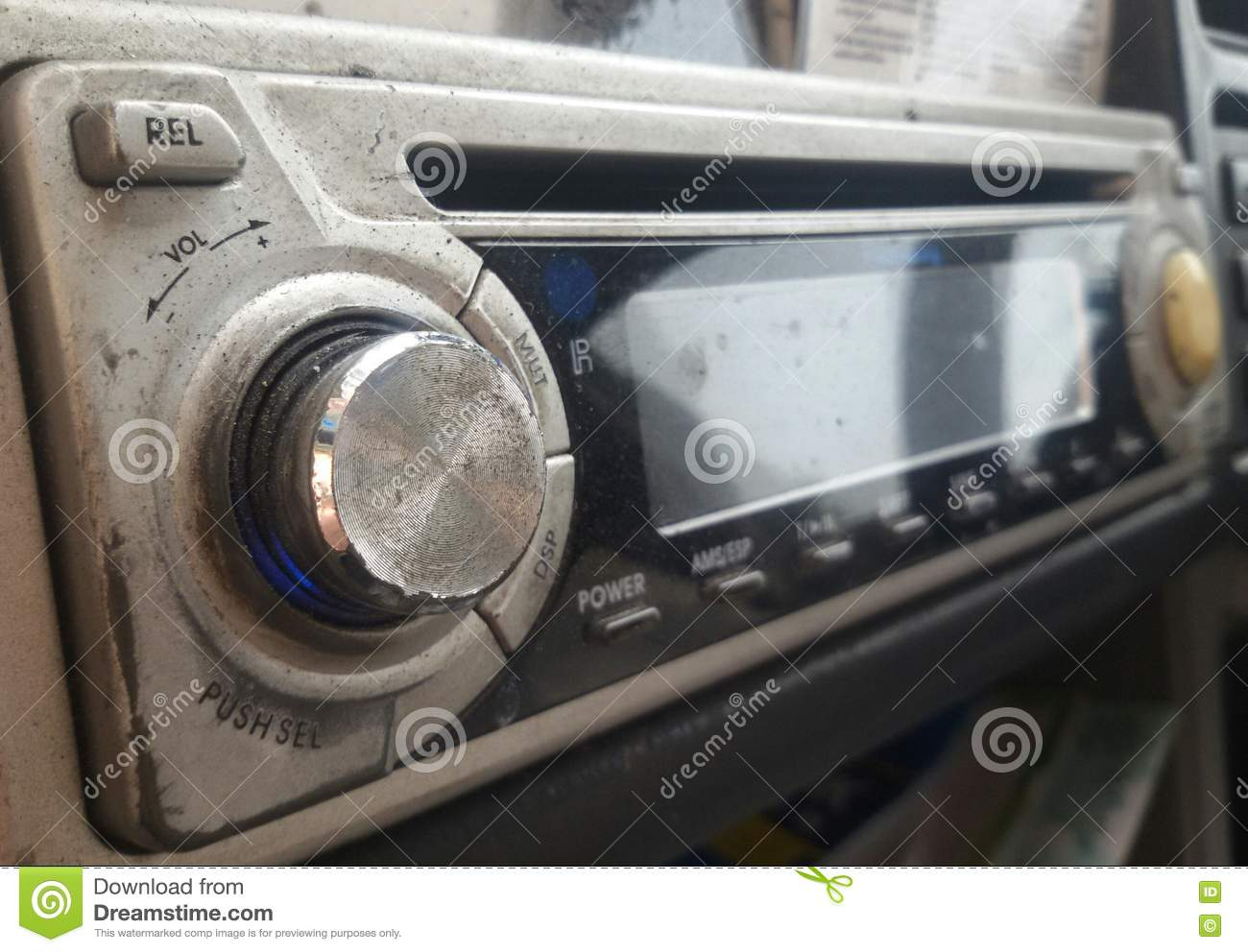 Old Car Radio With Cd Player That Shown Little Wear And Tear Stock Audio