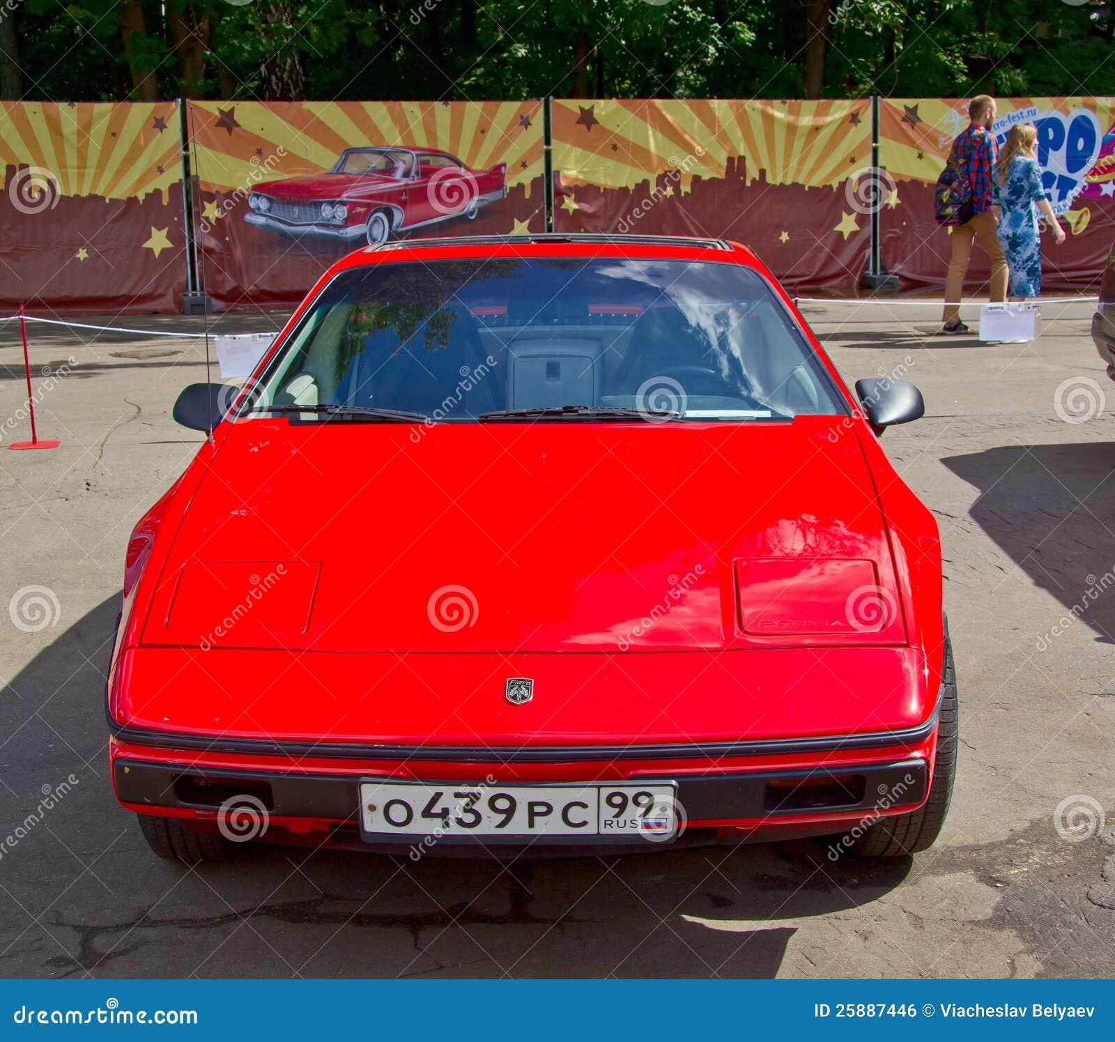 Old Car Show On Retrofest. Pontiac Fiero Editorial Photo