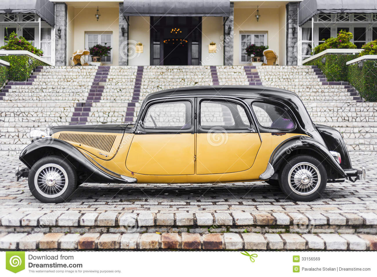 Old Car Side View Royalty Free Stock Images Image