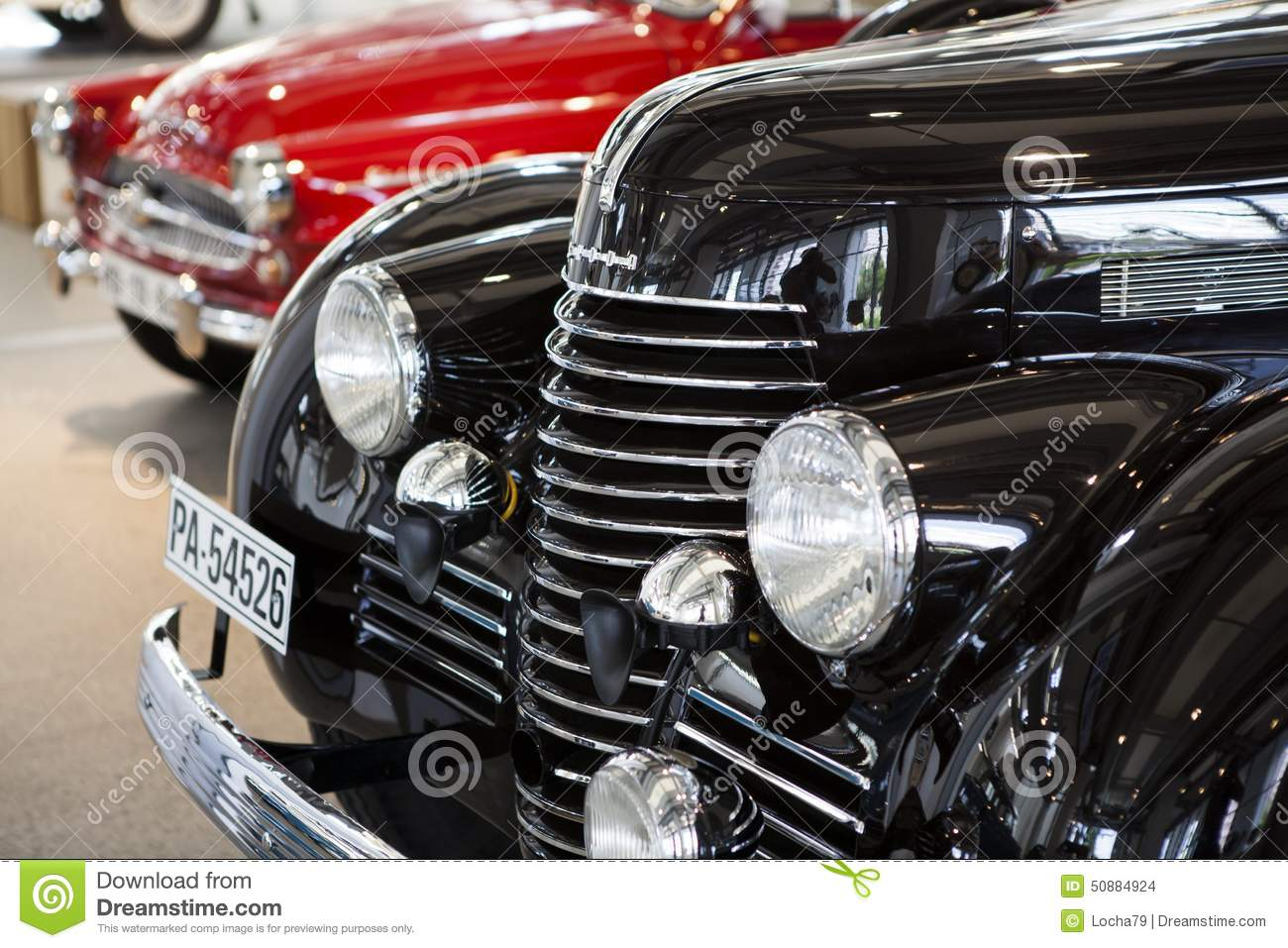Old car editorial stock image. Image of mlada, fabia - 50884924