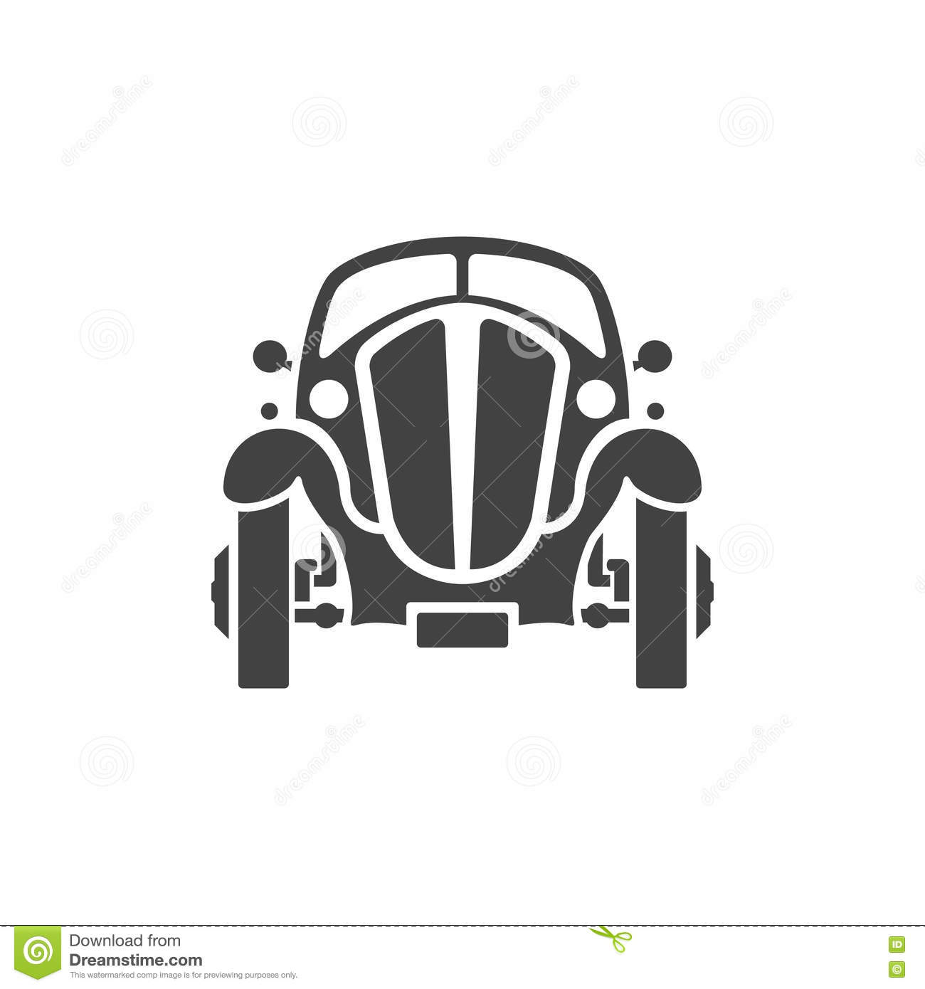 Old Car On White Background Vector Icon In Retro Style Stock Vector