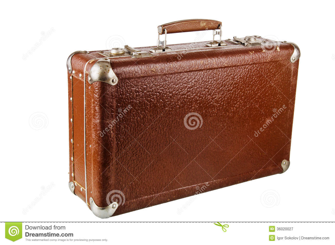 Old cardboard suitcase isolated royalty free stock photography image 3602 - Valise en carton vintage ...