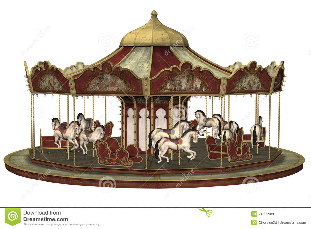 Old Carousel Stock Photos - Image: 21835903