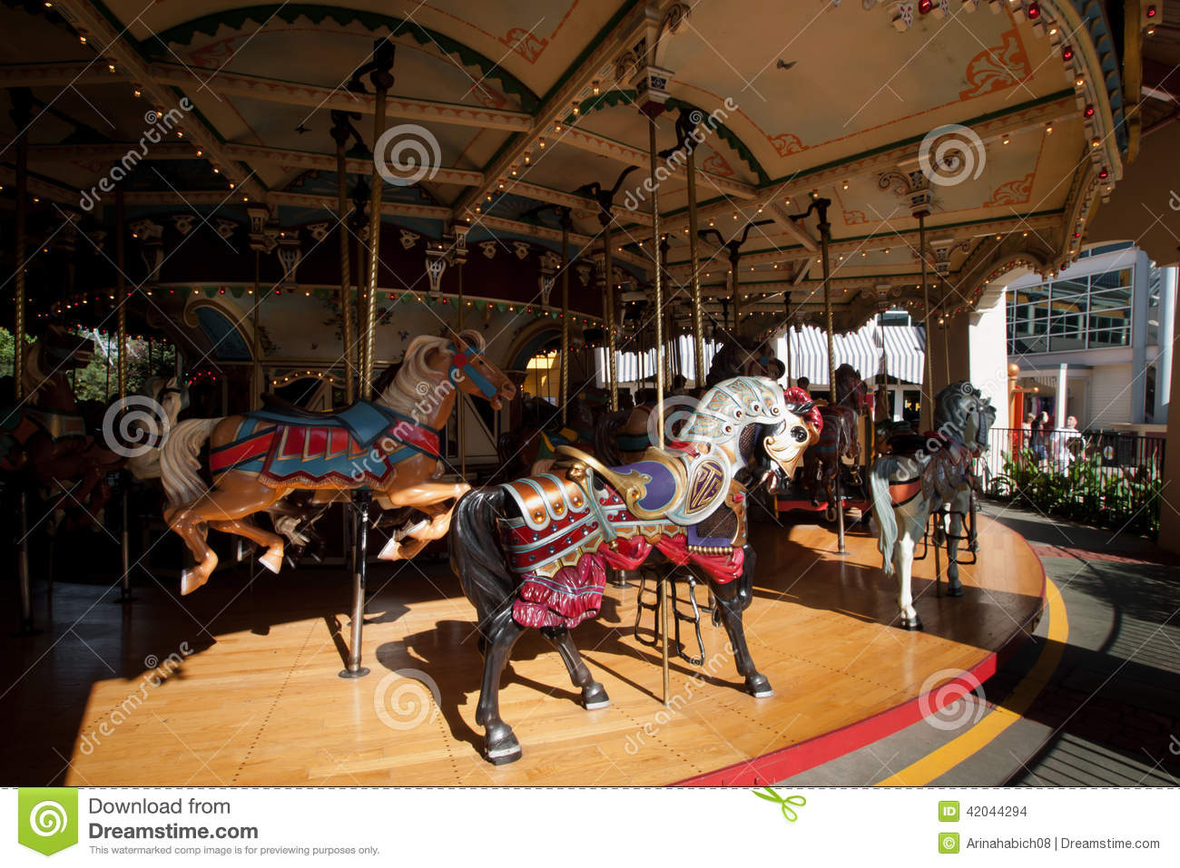 Old Carousel editorial stock image. Image of color, beautiful - 42044294