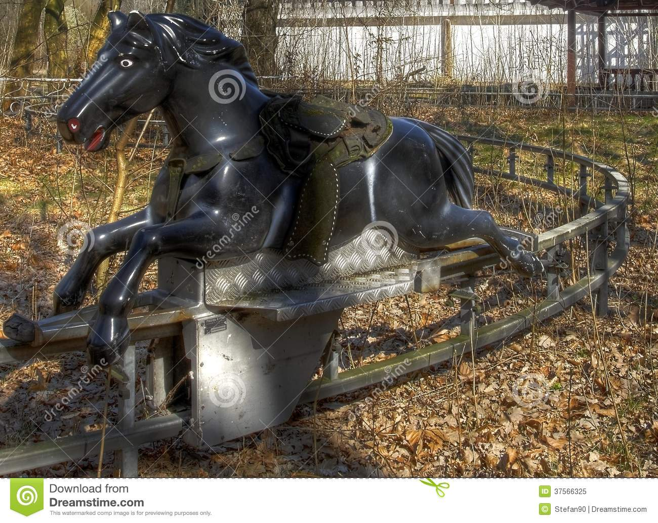 Old Carousel Horse Ride Stock Image Image Of Derelict 37566325