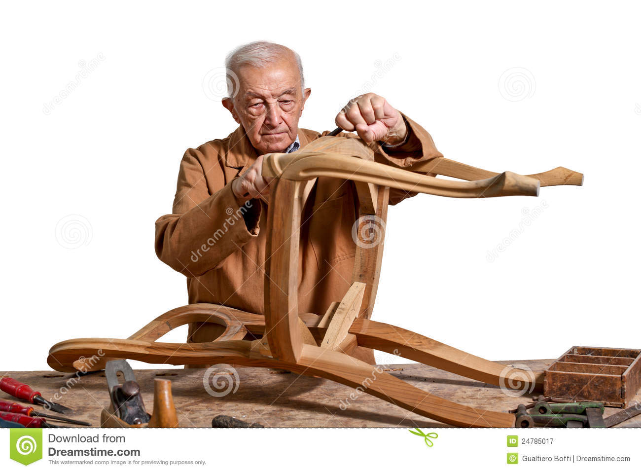 Old Carpenter Royalty Free Stock Photography - Image: 24785017