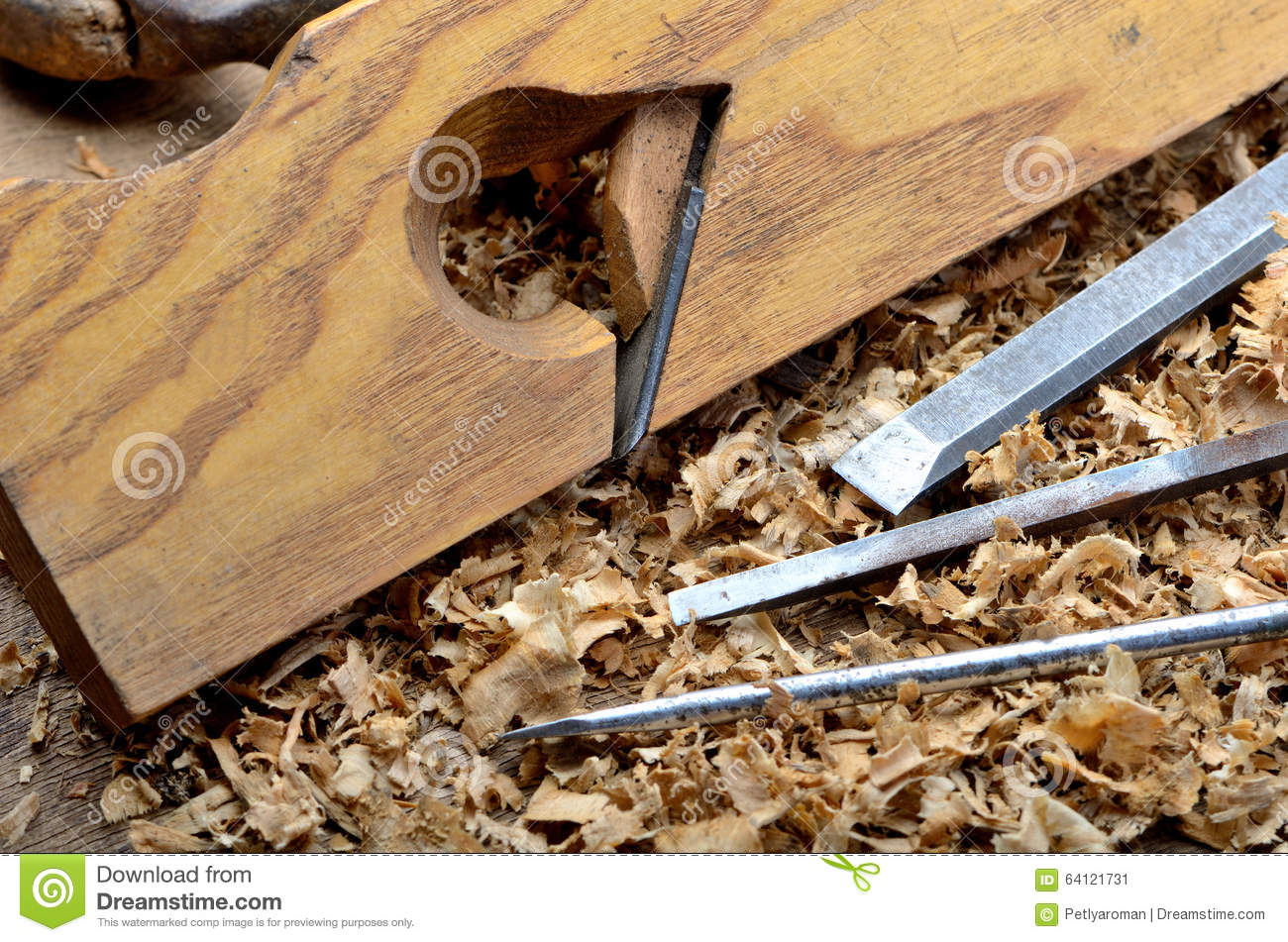 Old Carpenter S Tools For Working With Wood Stock Image Image Of