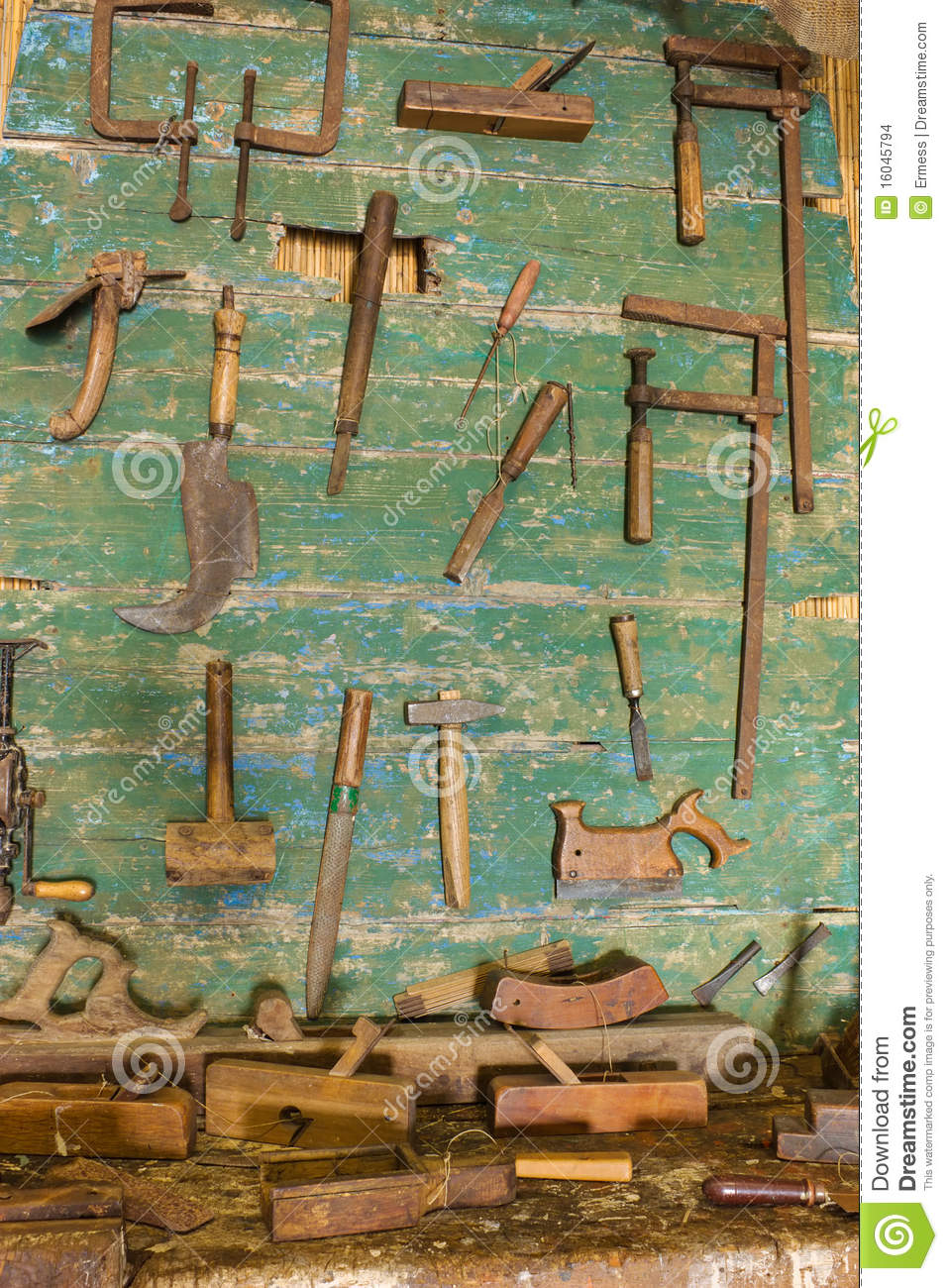 Old Carpenter S Workshop Stock Photo Image Of Dirty 16045794