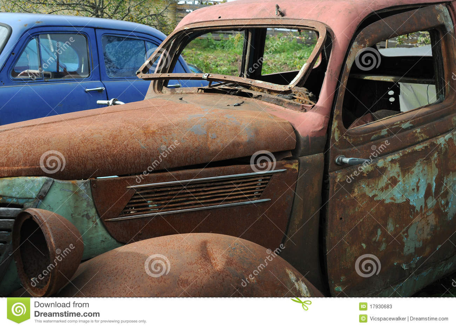 Old Cars in the Junkyard
