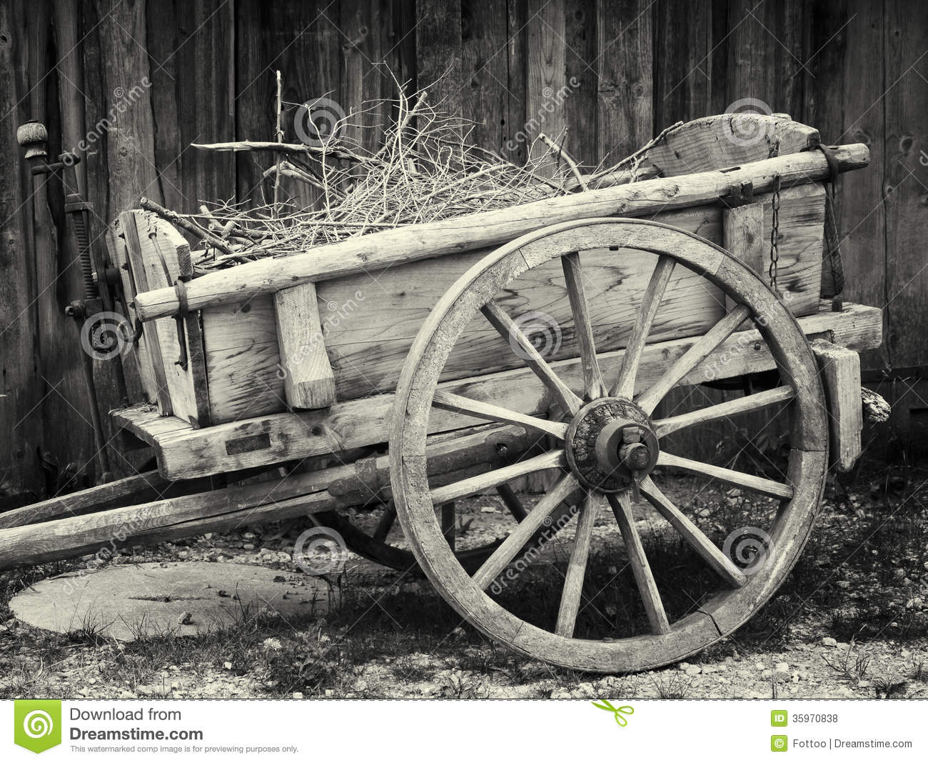 Old Cart Stock Photo. Image Of Ancient, Timber, Color