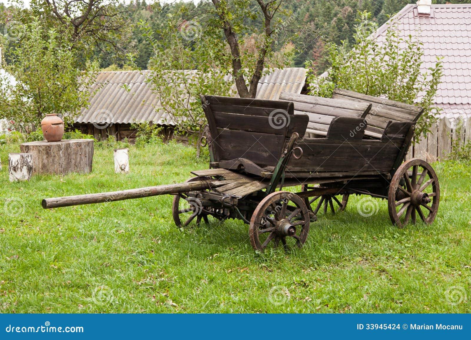 Old cart stock photo. Image of pushcart, outside, plants - 33945424
