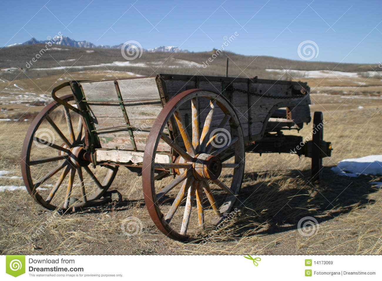 Old Cart Wagons Stock Image. Image Of American, Alberta