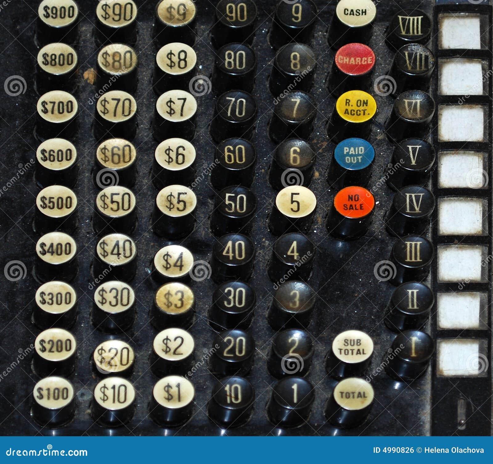 Black Old Vintage Dollar Cash Register Key
