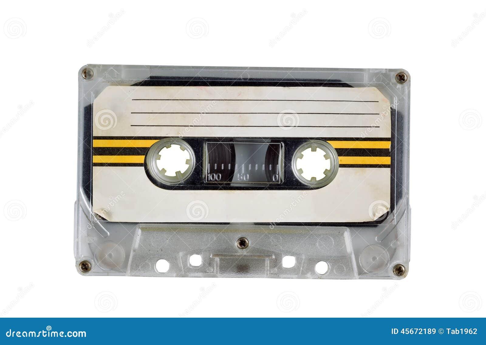 Old Cassette Tape on White