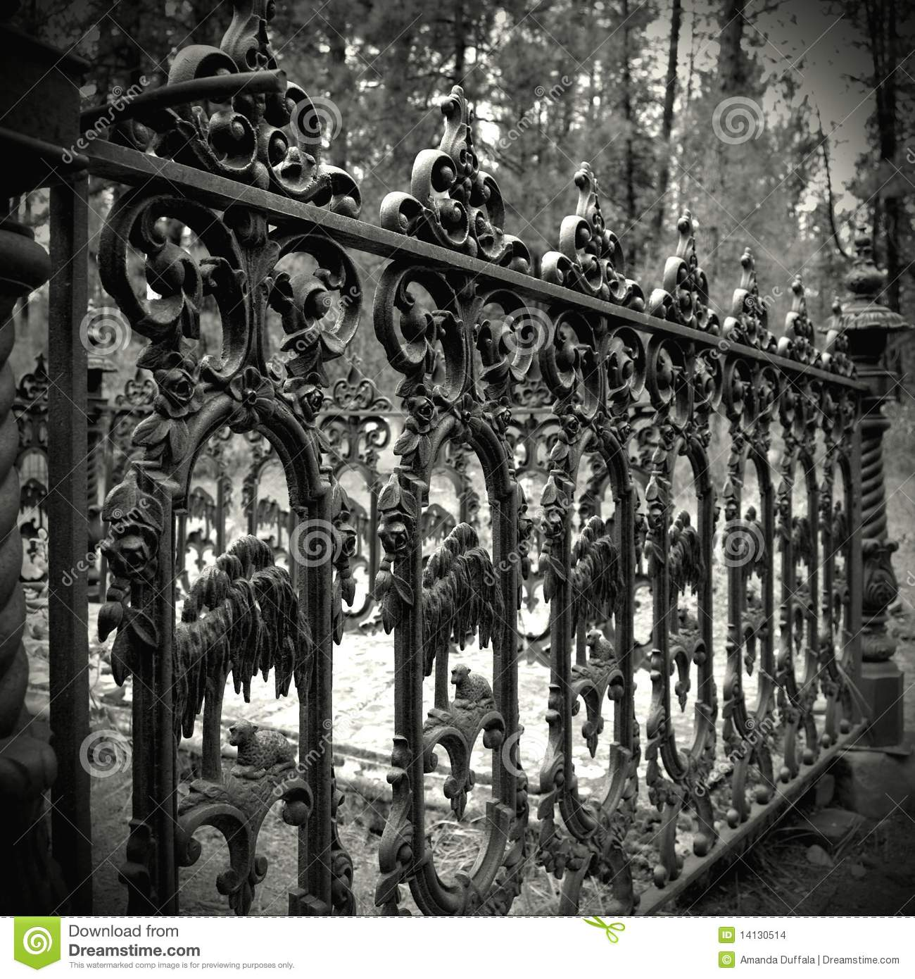 wrought iron fence victorian. Old Cast Iron Fence Wrought Victorian