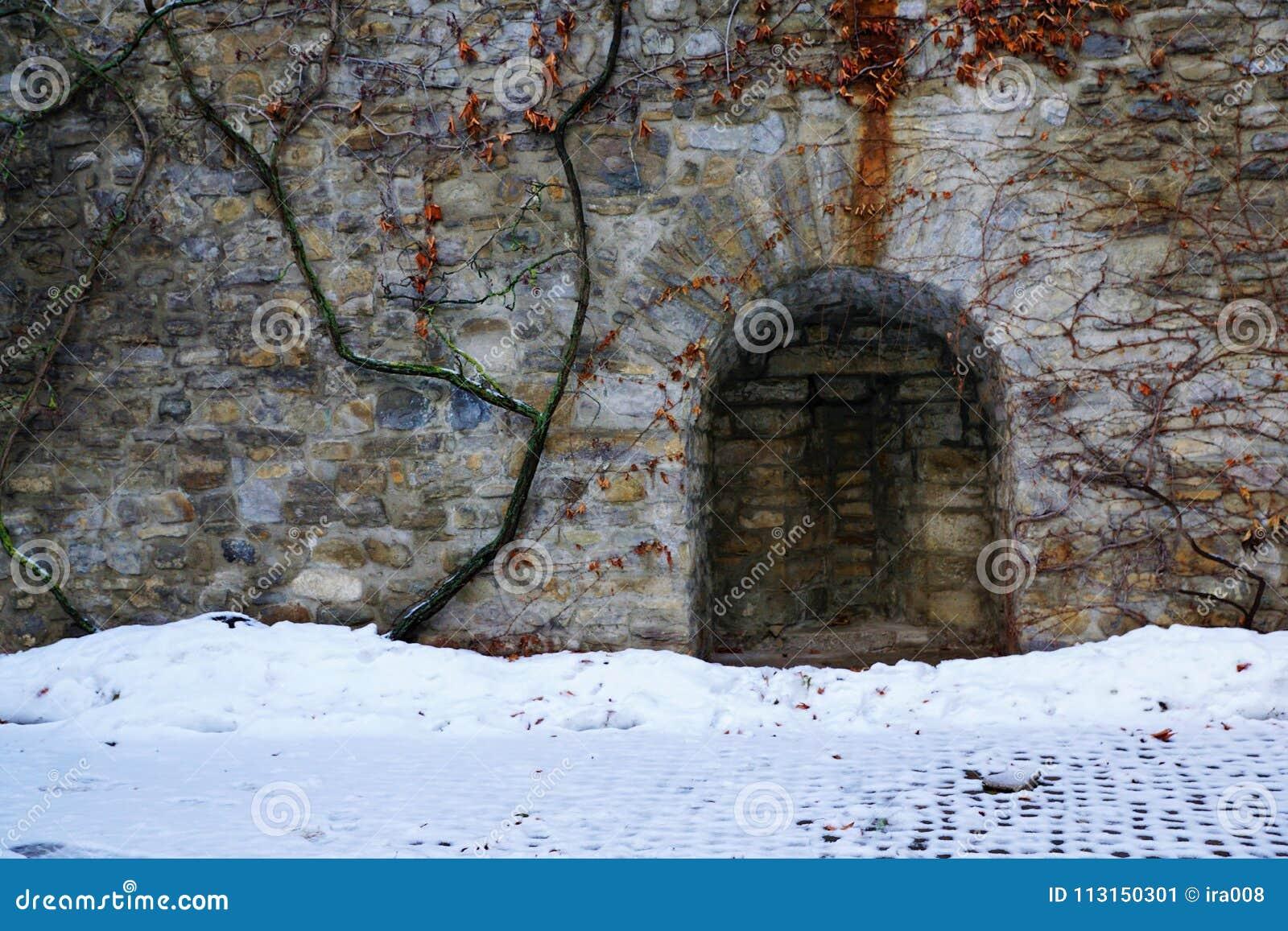 Old castle in bulle in gruyere in south switzerland