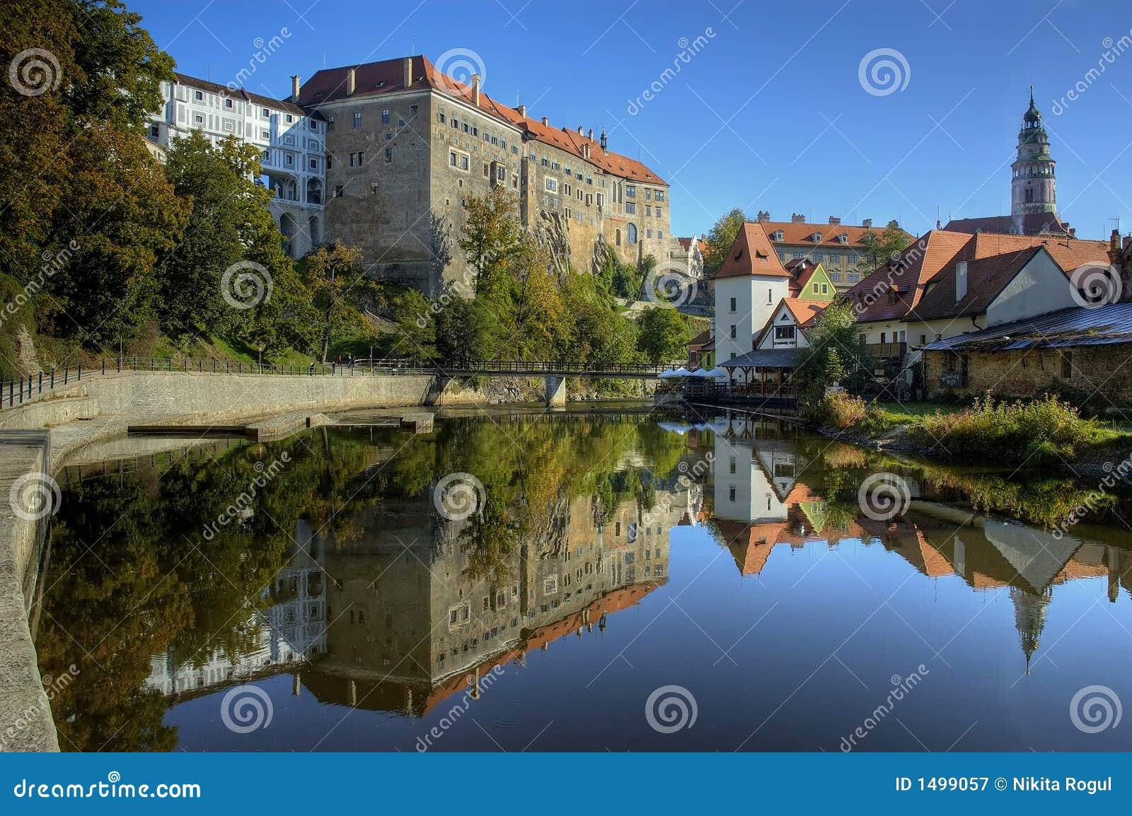 Old castle in Cesky Krumlov