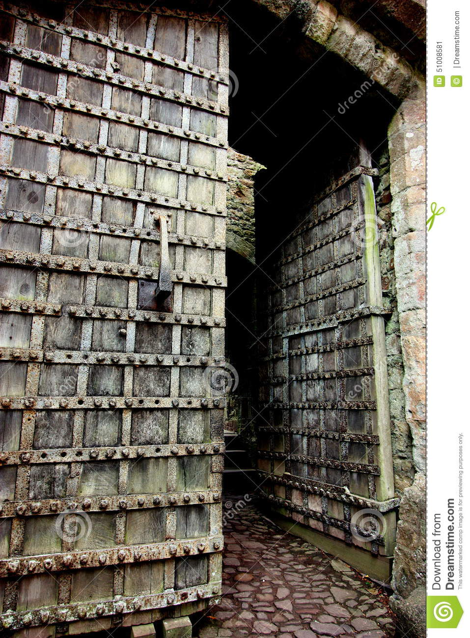 Royalty-Free Stock Photo. Download Old Castle Doors. & Old Castle Doors. Stock Photo - Image: 51008581 Pezcame.Com