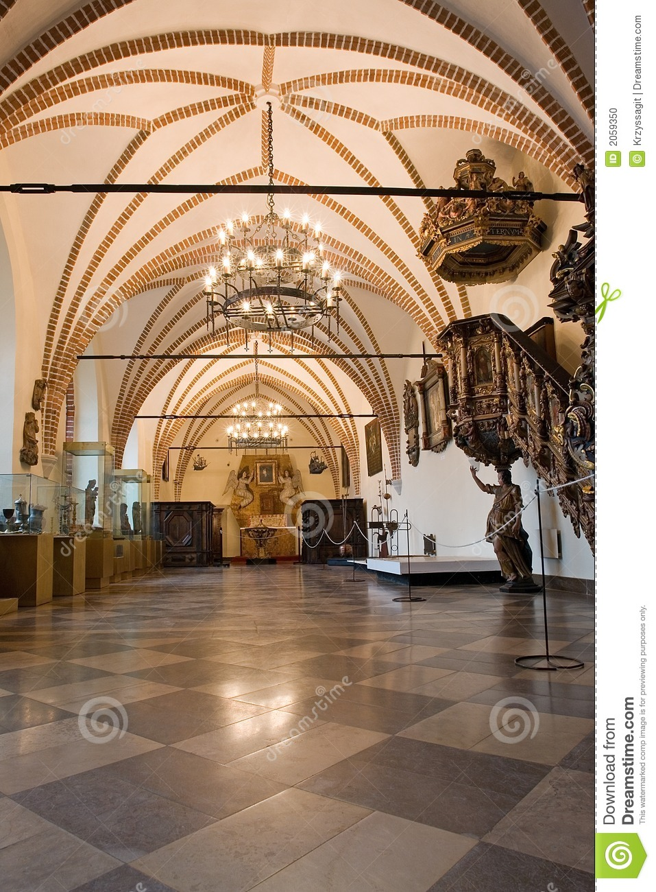 Old Castle Hall Interior Stock Photo Image Of Inside