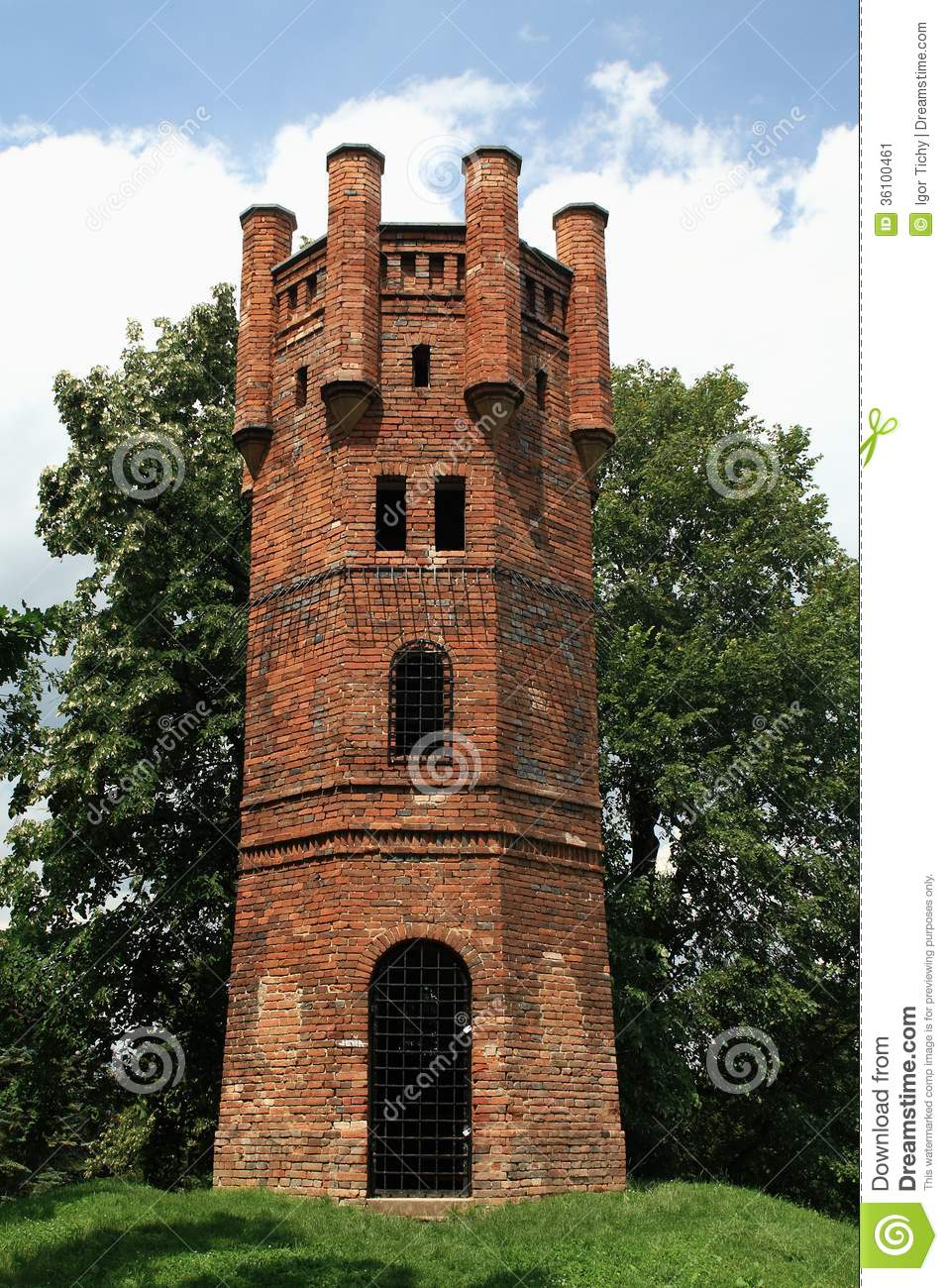 Lookout Tower Plans Old Castle Lookout Tower Stock Image Image 36100461