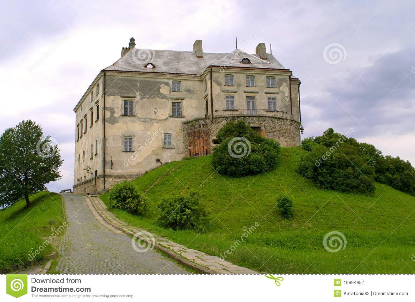 Old castle in Olesko, Ukraine