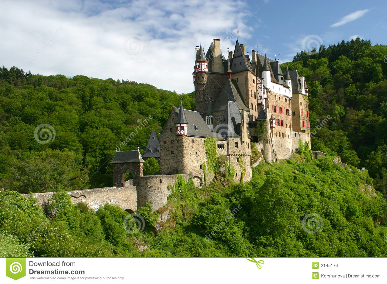 Vintage castle west germany