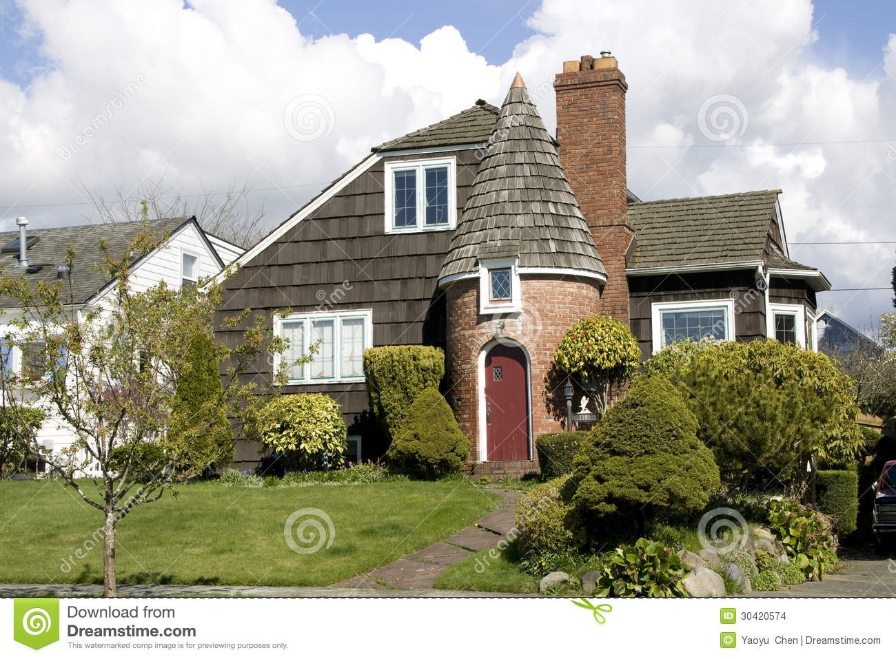 Old Castle Style House Stock Images Image 30420574