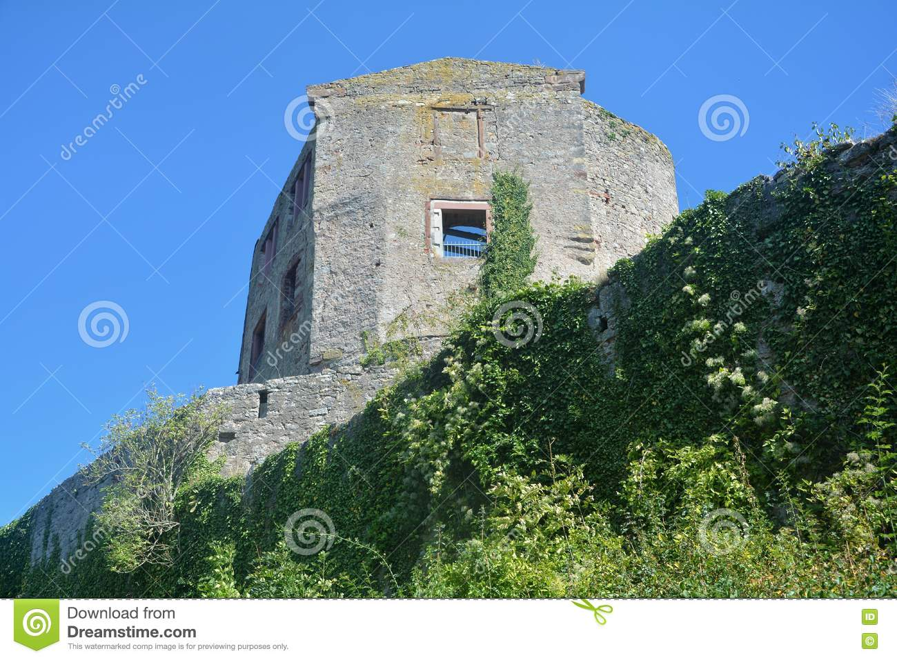 Old castle wall ruins
