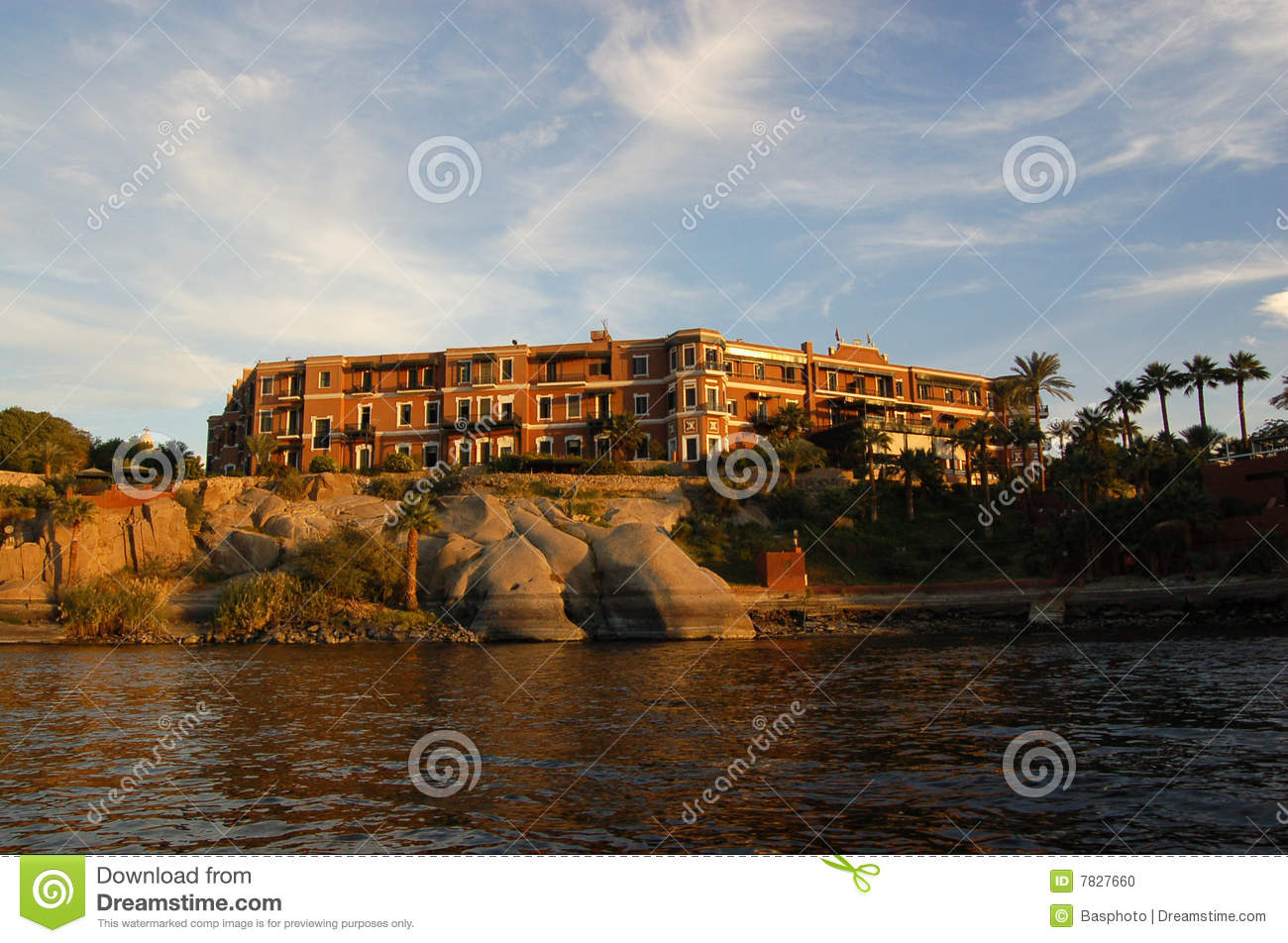 Old Cataract Hotel Aswan Stock Photo Image Of Evening 7827660