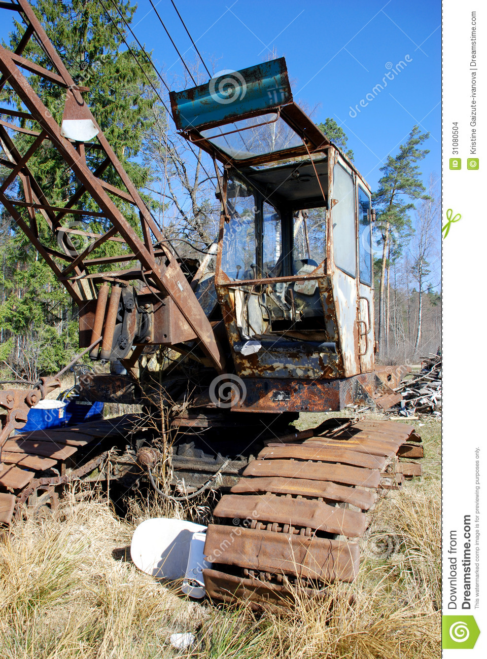 Old caterpillar earth mover