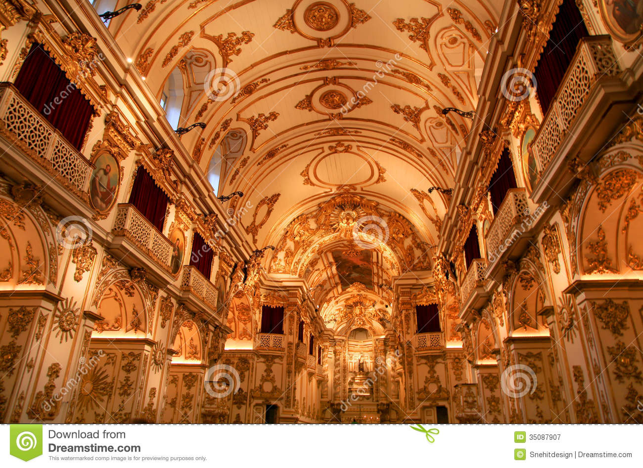 Stock Interiors Com >> Old Cathedral Of Rio De Janeiro Royalty Free Stock ...