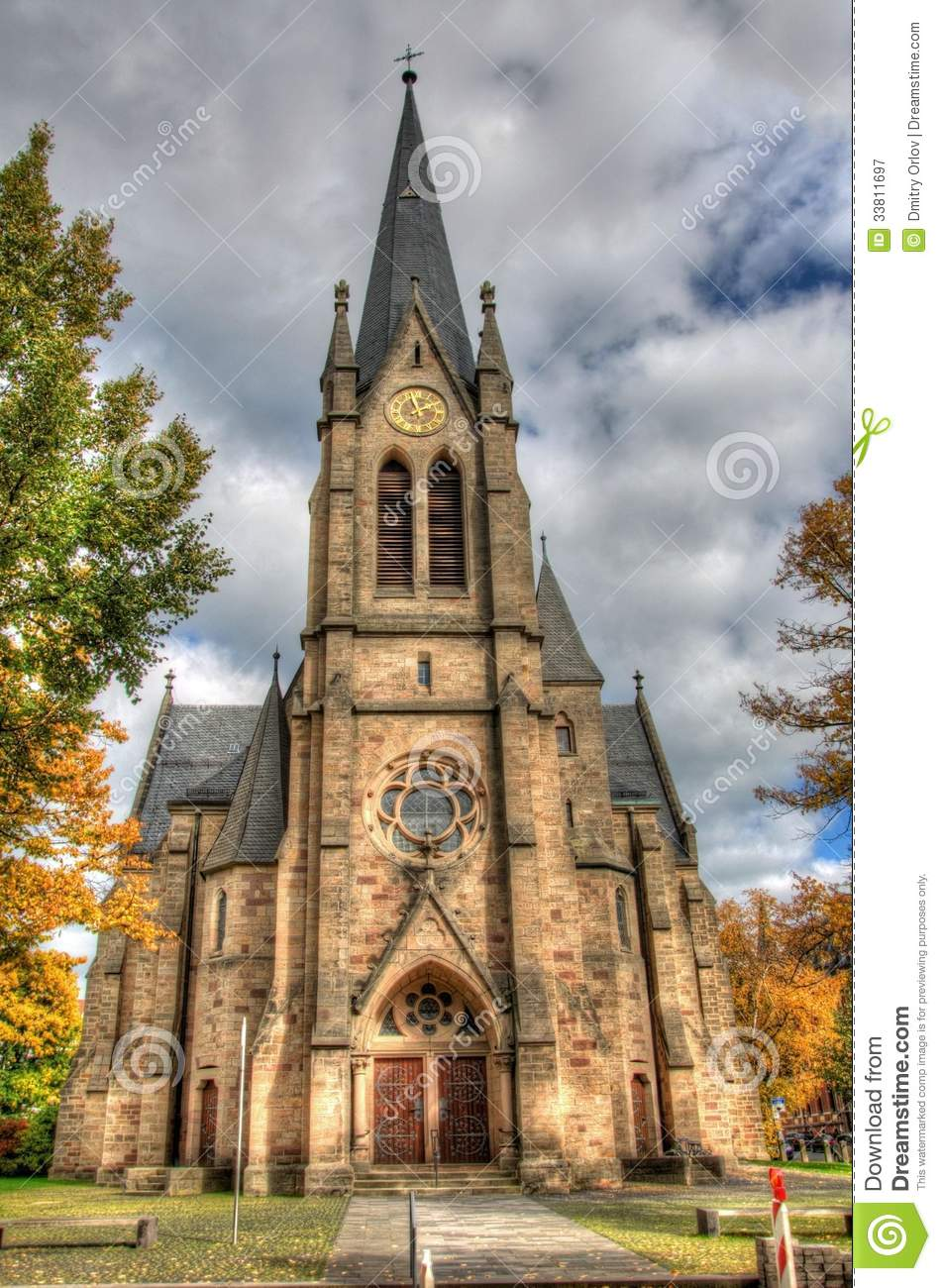 Old Catholic Church, Fulda, Hessen, Germany Royalty Free Stock ...