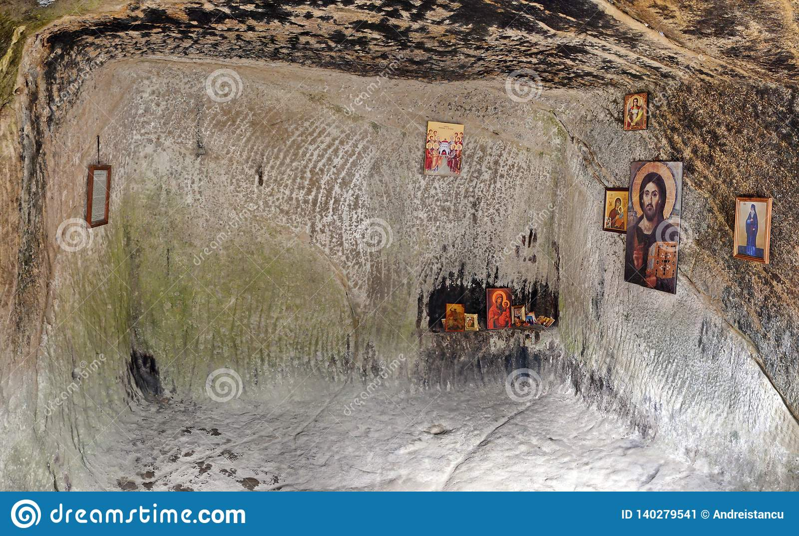 Old cave monastery house