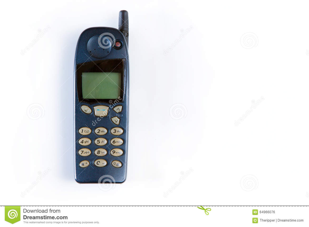 8c2716706ce Old Cellular Phone. Vintage Technology Stock Photo - Image of ...