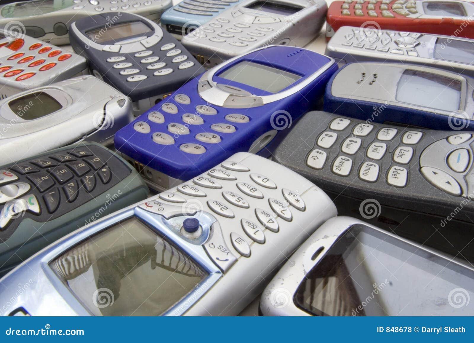 Old cellular phones 1