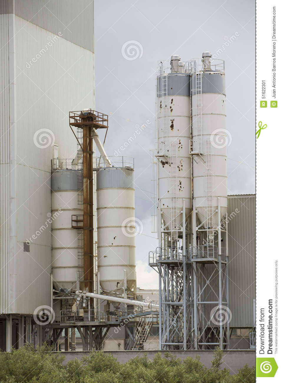 Old Cement Factory Machinery. Stock Image