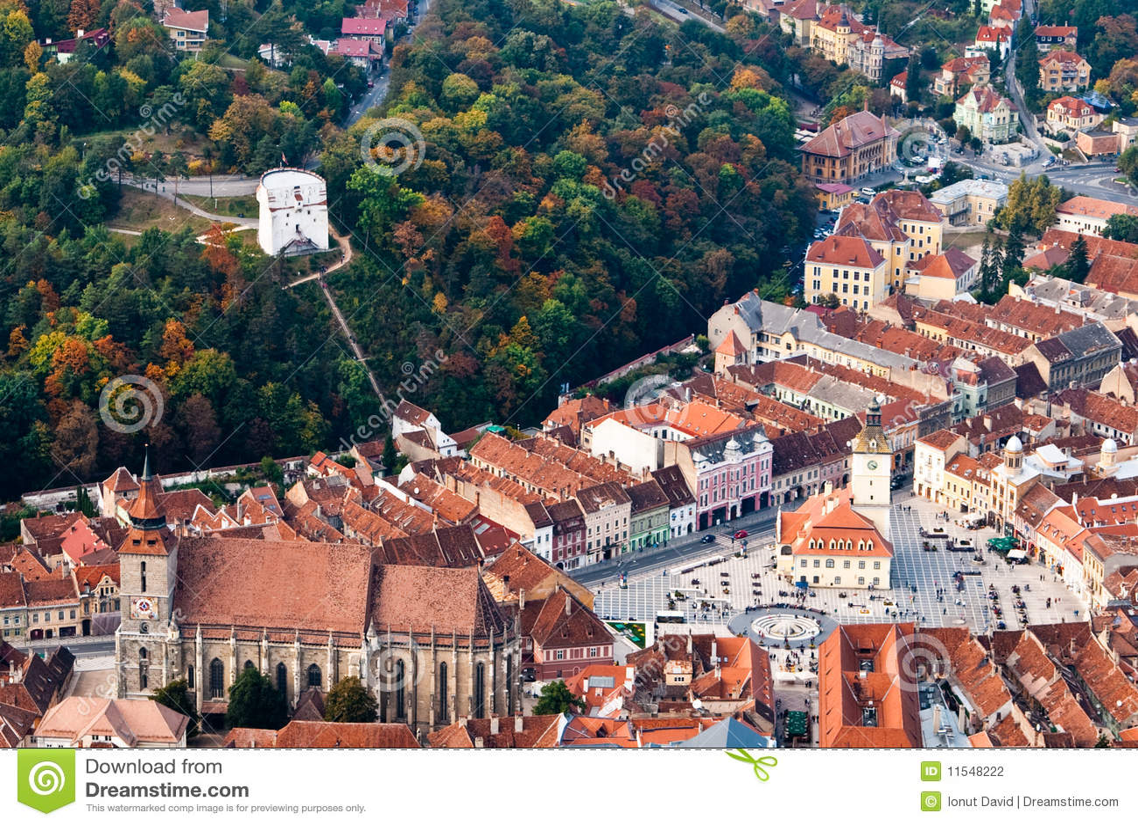 Old center of Brasov city