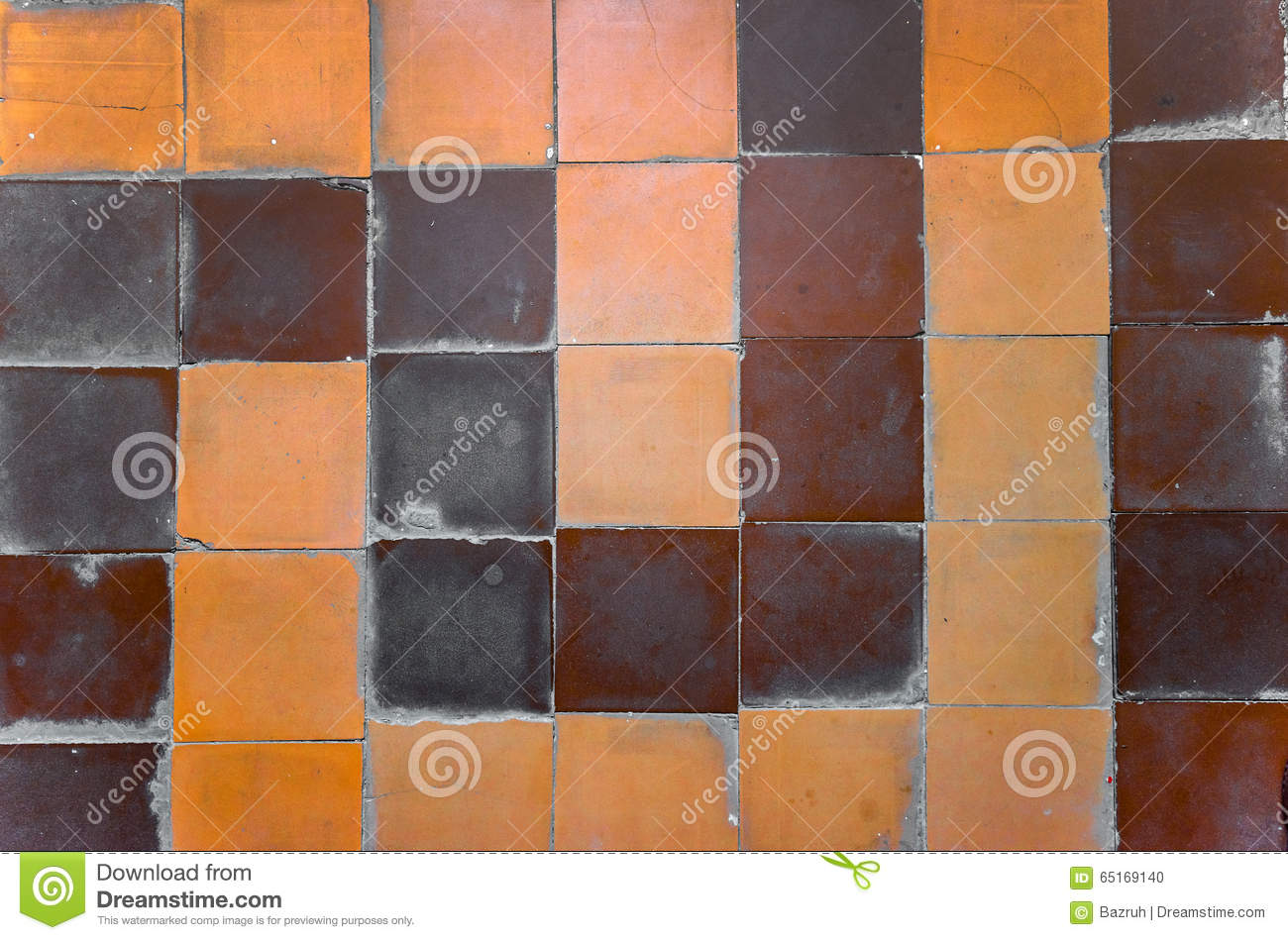 Old Ceramic Tile On Floor Stock Photo Image Of Antique 65169140