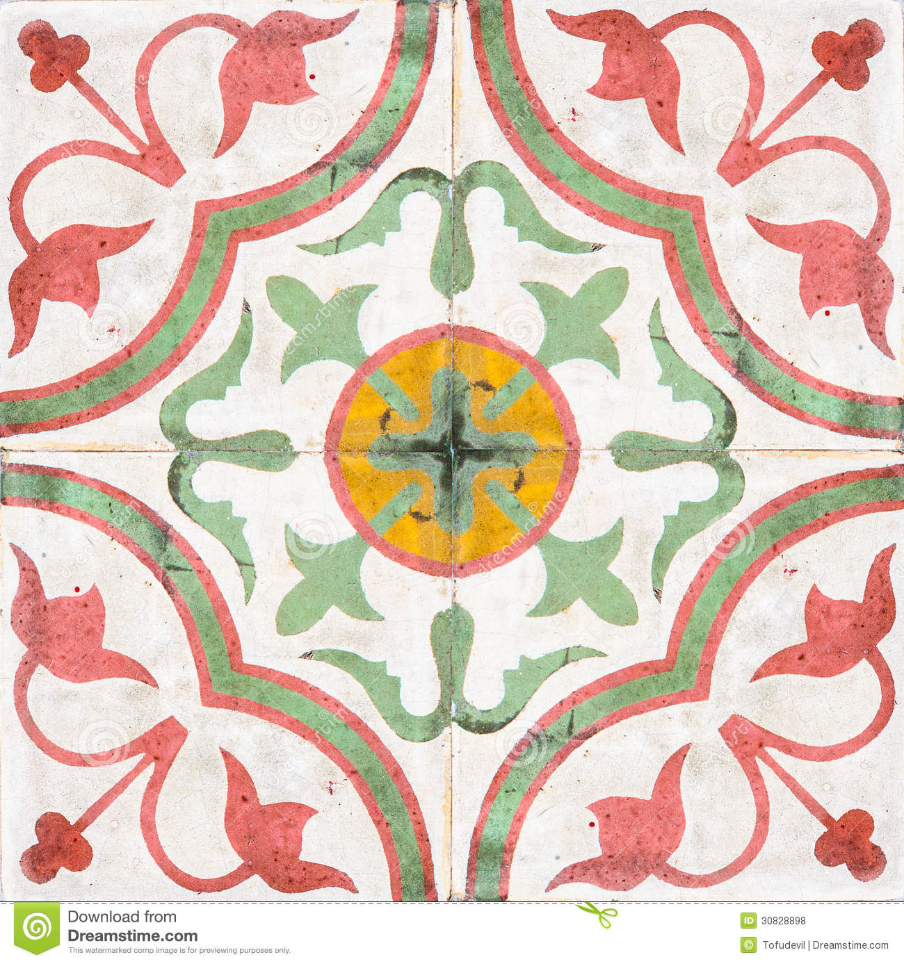 Old Ceramic Tiles Stock Photo Image Of Exterior Colorful 30828898