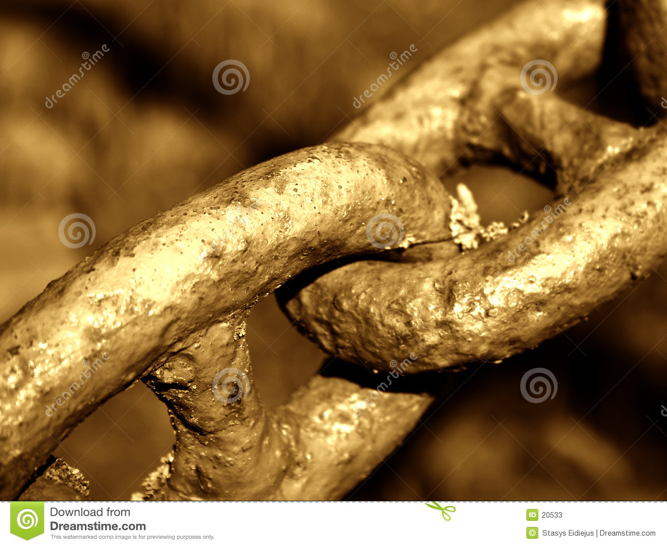 Old chain. Detail.
