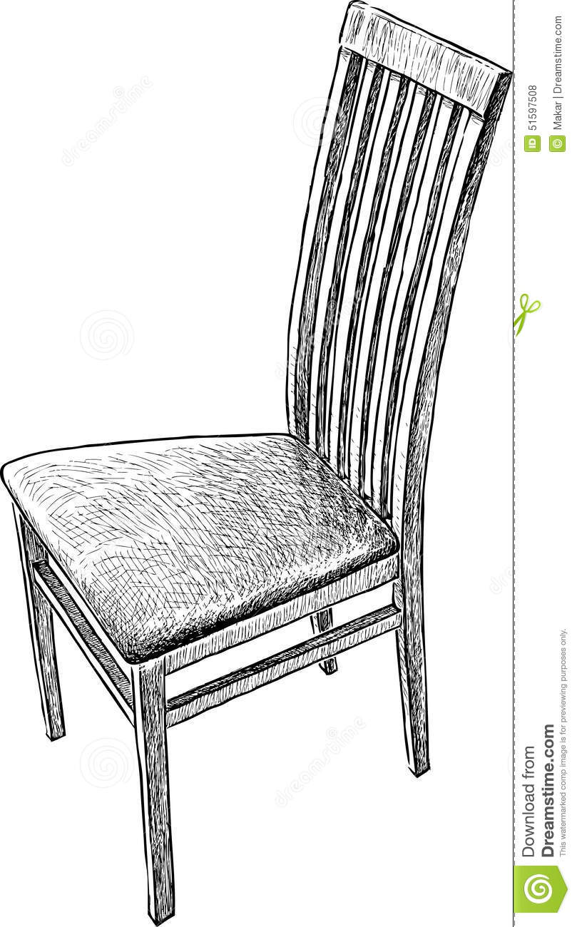 Old chair stock vector image