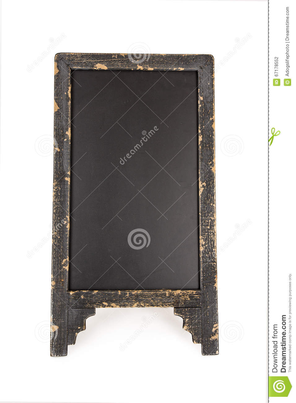 Old Chalkboard Sidewalk Sign Stock Photo Image Of