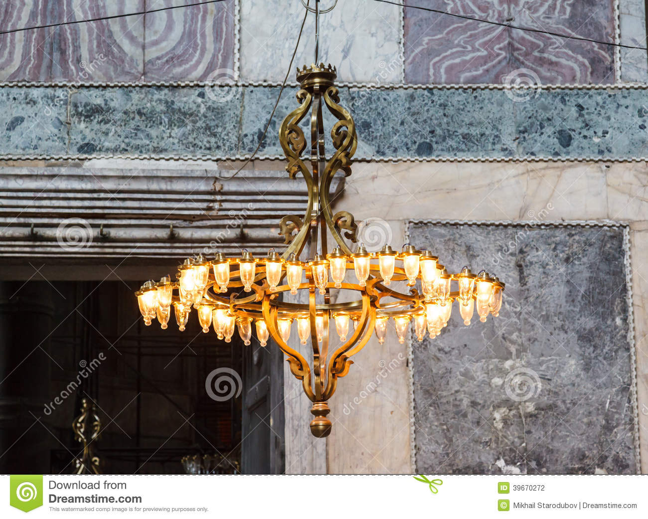 Old chandelier under the dome of hagia sophia stock photo image of download old chandelier under the dome of hagia sophia stock photo image of decorated aloadofball Images