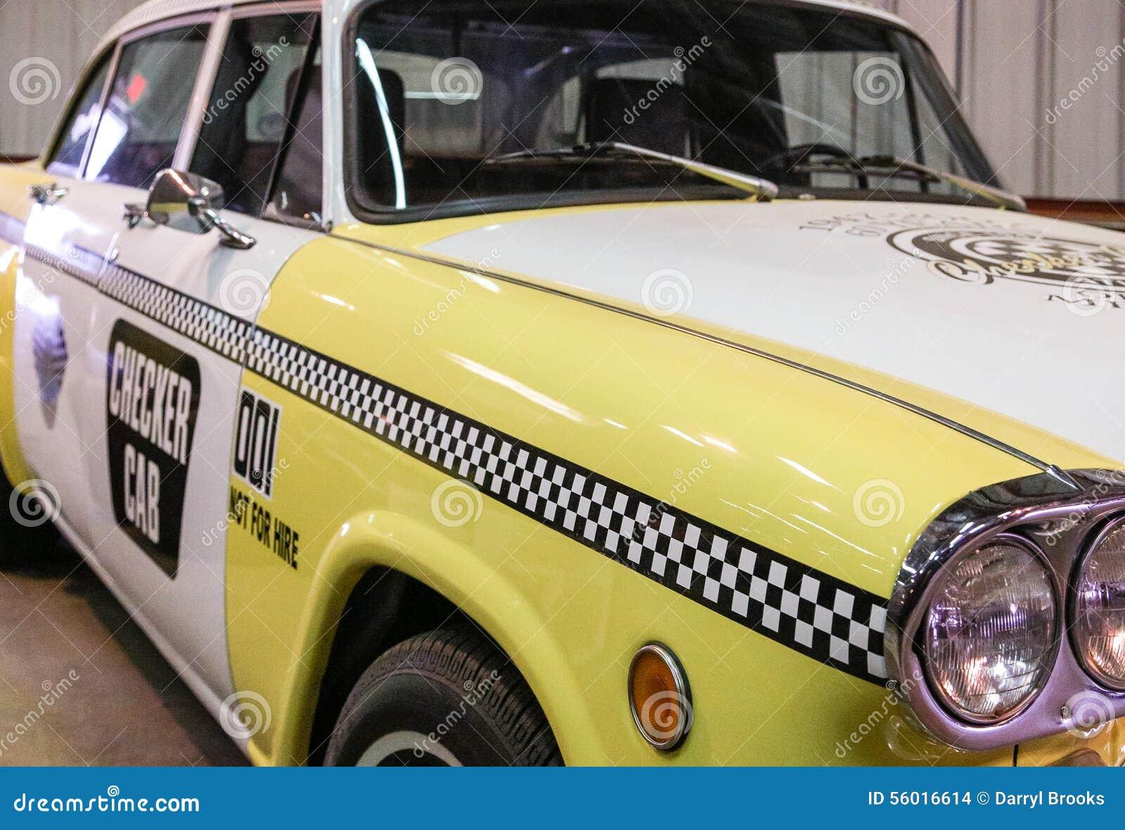Old Checker Cab Stock Photo Image 56016614