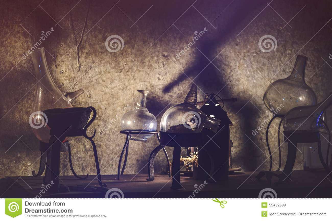 Old Chemistry Equipment used for Alchemy