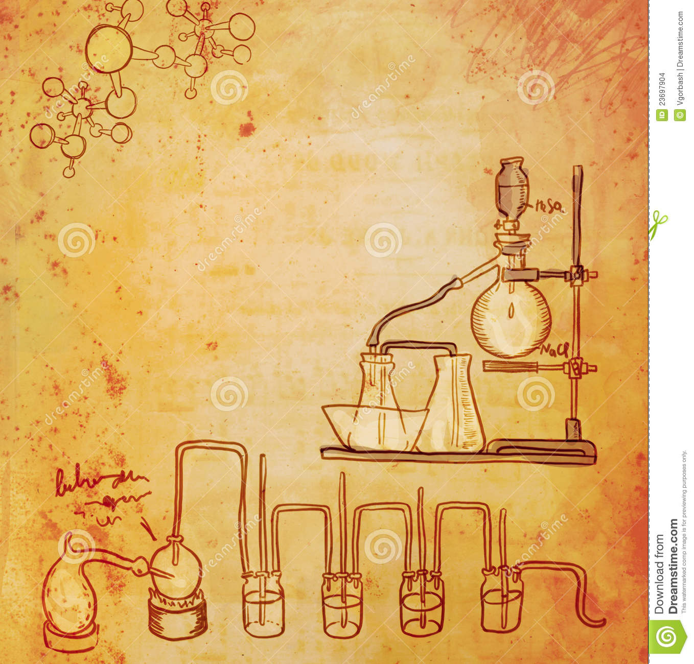 Old Chemistry Laboratory Background Stock Images - Image: 23697904