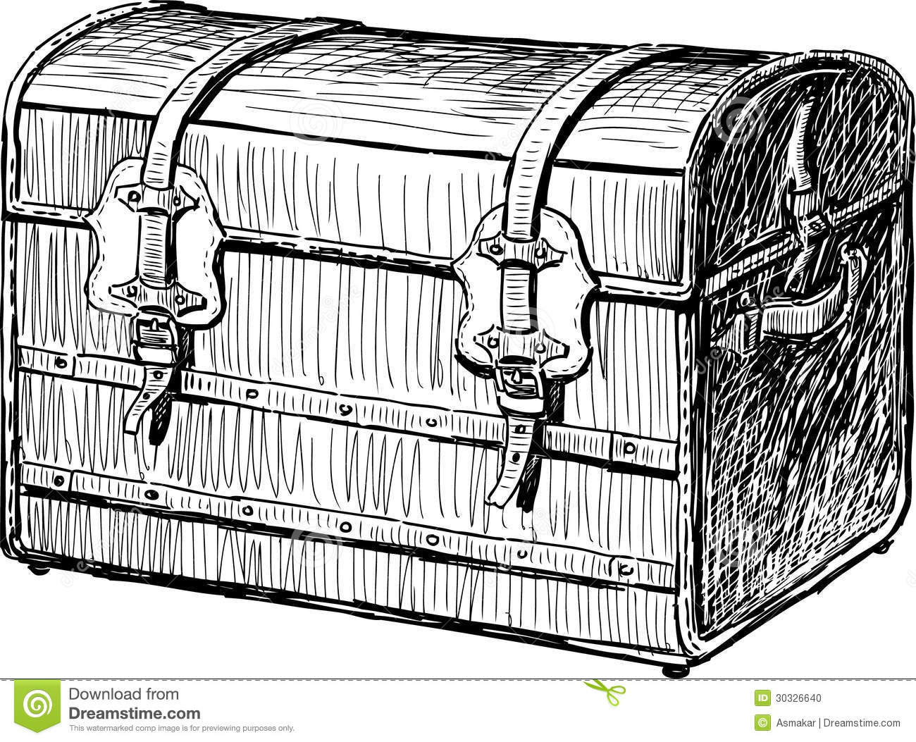 Old Chest Stock Photo - Image: 30326640